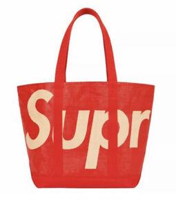 Supreme SS20 Raffia Tote Bag Red