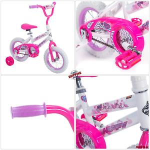"""Bicicletas Para Niñas Pequeñas Con Ruedines 12"""" Regalo Para Niña Comoda Segur"""