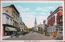 Laconia, NH 1920s Postcard: Main Street / Downtown - New Hampshire