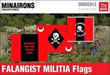 Minairons 1:72 Falangist militia flags - 20mm Spanish Civil War