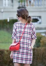ZARA WOOL BLEND TARTAN CHECKED DRESS SIZE MEDIUM REF 7840 305