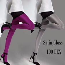 Opaque Microfibre Tights 3D Satin Gloss Various Colours-100 Denier