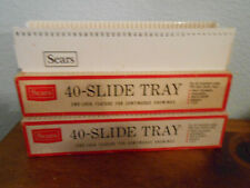 Lot of 3 Sears Projector Slide Tray 40 Capacity TDC Bell Howell Sawyer