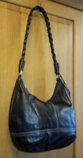 Hotter Black Genuine Leather Handbag Shoulder Bag Medium Hobo Bag