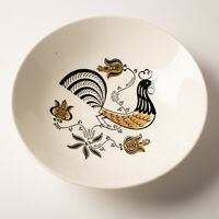 Vtg Royal Ironstone Good Morning Rooster Farmhouse 9.5 inch Serving Bowl 1950s