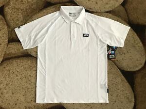 Pelagic Performance Pro Fishing S/S Polo Shirt Mens Size Medium White NWT $69.00