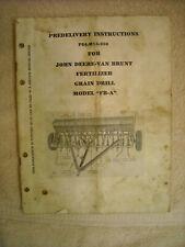 John Deere Pdi M15 356 Man Van Brunt Model Fb A Fertilizer Grain Drill