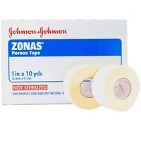 JOHNSON & JOHNSON ZONAS POROUS ATHLETIC TRAINERS TAPE 1 in x 10yds #5104