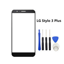 New Front Screen Outer Lens Glass Replacement + Tools for LG Stylo 3 Plus MP450