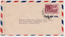 (OW-104) 1950 India air mail 12A letter to Rola Co Richmond VIC(Tone spot)
