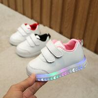 Infant Toddler Baby Girls Boys Light LED Luminous Sport Running Shoes Sneakers