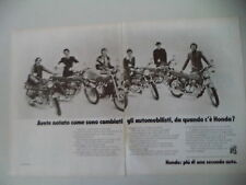 advertising Pubblicità 1975 MOTO HONDA CB 350/400/500/750 FOUR/500 TWIN