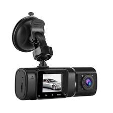 Dual Lens Front Rear HD 1080P GPS Car Dash Camera Video LCD Recorder Vision