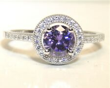 925 STERLING SILVER AMETHYST  CLUSTER  STATEMENT RING SIZE P