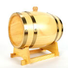3L Wood Pine Timber Wine Barrel For Beer Whiskey Rum Port Wooden Keg with Stand