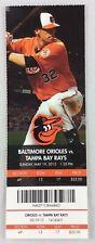 MLB 2013 05/19 Tampa Bay Rays at Baltimore Orioles Ticket -Matt Moore WP