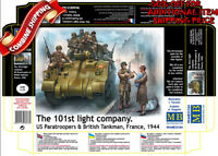 Master Box 35164 101st Sq US Paratroopers & British Tankmen France 1944 kit 1/35