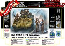 Master Box 35164 101st Sq US Paratroopers & British Tankmen France 1944 kit 1/35