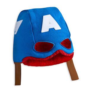 Disney Store Marvel's Captain America Beanie Mask Costume Hat Kids Size XS S 3-6