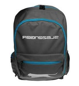 Slazenger Charcoal Grey Blue Backpack Rucksack with Lunch Box [712033]
