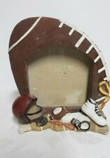 """Football Picture Frame Holds Photos 3"""" x 3 1/2"""""""
