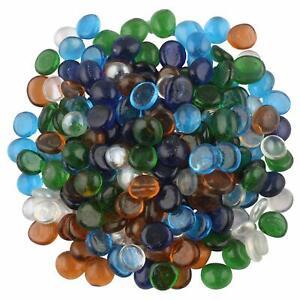 Transparent Half Round Aquarium Glass Pebbles for Garden and Living Room Decor (