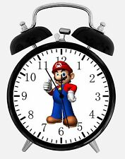 "Super Mario Games Alarm Desk Clock 3.75"" Room Decor Y04 Nice for Gifts Wake Up"