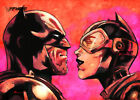 ACEO ATC Sketch Card - Batman and Catwoman
