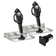 """Lenco Trim Tabs 4 Boat 12 volt 9'x12"""" LED Complete Kit with Auto Retract"""