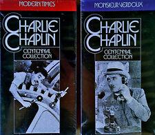 CHARLIE CHAPLIN -MODERN TIMES & MONSIEUR VERDOUX- KEY VIDEO-  (2) TAPES - SEALED