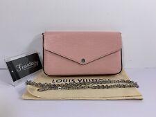 100% Authentic Louis Vuitton Pochette Felicie Pink Epi Leather crossbody bag