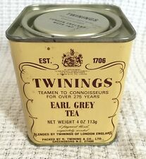 Vintage Twinings Earl Grey Tea Tin-4 Oz-Advertising 113g