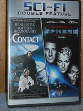 Contact/Sphere (DVD, 2007) sci-fi Sharon Stone Dustin Hoffman Jodie Foster