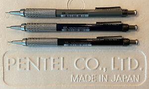 New Pentel GraphGear 500 | 0.5, 0.7, & 0.9 mm Set Drafting Mechanical Pencil s