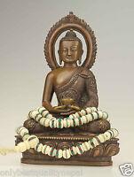 Mala beige Halskette Yak Knochen Nepal Buddha 49h