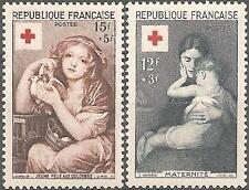 N°1006 + 1007 - 2 TIMBRES NEUFS** de France // 1954