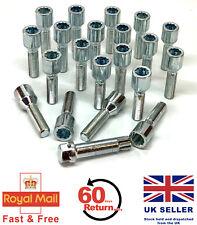 20 x alloy wheel tuner bolts M12 x 1.5 + key extended thread 40mm - BMW 3 series
