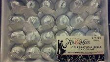 "New listing ""Wedding Celebration Bell Favors"" Studio His & Hers #24 White 1 3/8"" X 1 3/4"""