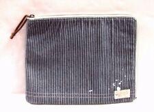 Polo Ralph Lauren Railroad Stripe IPAD Case Leather & Canvas 405154491156 NWT