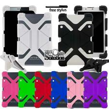 "For Various 7"" 8"" Tablet Universal Bumper Silicone Stand Cover Case + Pen"