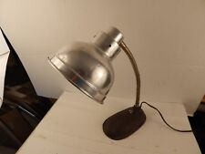 vintage Art Deco DESK LAMP Cast Iron Base & Aluminum Shade