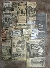 FRANKENSTEIN VS DRACULA-- 21 Original Newspaper Horror Movie Ads