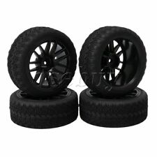 4pcs RC1:10 U Rubber Tyres+14 Spoke Wheel Rims for On Road Car Rally Car