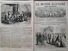 LE MONDE ILLUSTRE 1860 N 177  LE VOYAGE DANS LE MÂCONNAIS DE LEURS MAJESTES