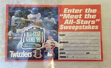 1999 TWIZZLERS ALL STAR GAME SWEEPSTAKES ENTRY FORM. GRIFFEY, SOSA, MADDOX +