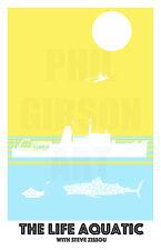 THE LIFE AQUATIC Art Print Team Zissou Adidas Beanie Wes Anderson Blu Poster
