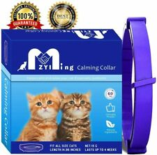 Calming Collar for Cats Pheromone Technology Reduces Pet Anxiety and Improves Ba