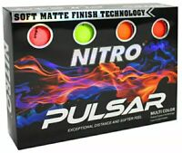 NEW Golf Balls Nitro Pulsar Box Golf Balls (Pack 12) NITRO PULSAR MULTI