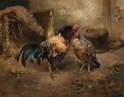 Karl Uchermann Hen And Cock Canvas Print 16 x 20     # 6130