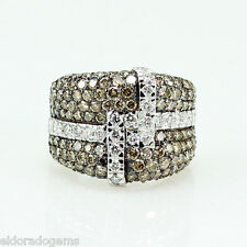 Le Vian  LeVian RING! RED CARPET CHOCOLATE DIAMOND WIDE BAND 18K WHITE GOLD 7.75